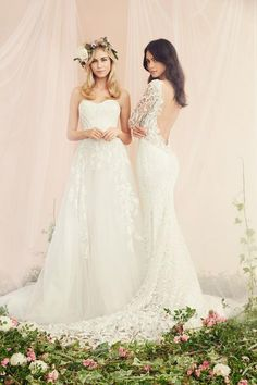 Kleinfeld Bridal | Behind the Seams Blog | New Kleinfeld Wedding Dresses for Millennial Brides | Left: Tony Ward Right: Pnina Tornai