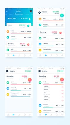 Budget 2x https://dribbble.com/shots/3534072-Finance-App-Budget-page