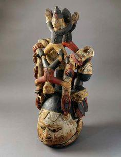 Yoruba Gelede Mask, Egbado - Abeokuta, Nigeria