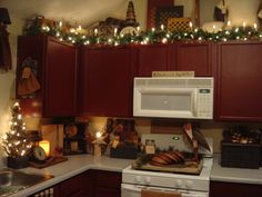 Just a lil corner of my Prim Country home at Christmas, Dining Rooms Design