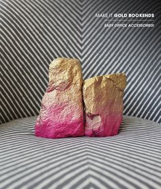 Spray paint rocks to make bookends
