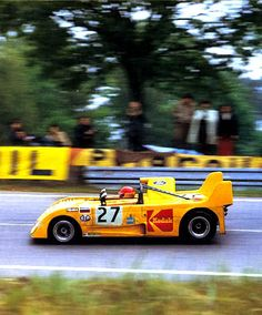 This car is a Kodak Lola T290 (chassis number HU-26) powered by a Ford Cosworth 1790 cc S4 FVC engine. This little car made history when it became the very first Lola to ever complete the full 24 hours and finish Le Mans! Owned and driven by Barrie Smith (UK) along with Rene Ligonet (FR), this Group 5 T290 won the 2 Liter class and finished 14th overall in the 1972 twenty-four hour classic. To the amazement of many, this was accomplished without any Lola factory support!