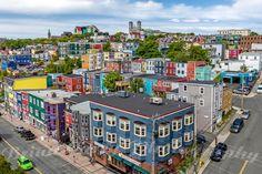 Saint-Jean, Terre-Neuve, Canada. Considérée comme la première colonie anglaise, une grande partie de la ville est classée Monument Historique.