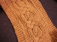Crochet cable pattern