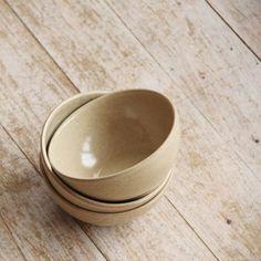 zierrat und gold: Müslischalen Keramik / 6er-Set