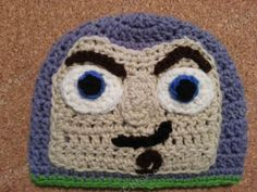 Crochet character hat rendition of Buzz Lightyear from Toy Story series. A fun free crochet hat pattern that kids will love. Crochet Kids Hats, Crochet Cap, All Free Crochet, Crochet Toys, Double Crochet Beanie Pattern, Crochet Patterns, Crochet Ideas, Hat Patterns, Shrek