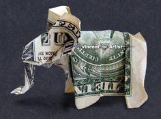Money Origami Elephant