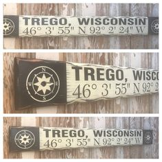 Custom GPS Coordinates Sign with City & State. Rustic 4 Foot Long Wood Sign-Custom GPS Coordinates Sign with City & State. Vintage Wood Signs, Distressed Signs, City State, Rustic Wood, Beach House, Beach Homes