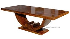 Art Deco Dining Table with Arched Base - contemporary - dining . Custom Dining Tables, Dinning Table, Dining Rooms, Art Deco Furniture, Wood Furniture, Ethnic Decor, Interior Decorating, Interior Design, Art Deco Era