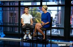 Nathan being interviewed by Charissa Thompson for Extra today in LA at Universal Studios. (04.27.15)