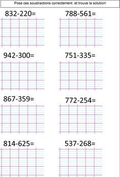 calcul CE2 | Le BLOG de Monsieur Mathieu School Frame, French Education, Math Addition, Math For Kids, Multiplication, Periodic Table, Blog, Teaching, Wordpress