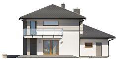 DOM.PL™ - Projekt domu TP Karat 4 CE - DOM TP2-29 - gotowy koszt budowy Modern Family House, Duplex Design, Construction, Bungalow, Gazebo, New Homes, Outdoor Structures, House Styles, Outdoor Decor