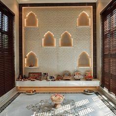 Pooja Room Door Design, Home Design Living Room, Wall Cladding Designs, Temple Design For Home, Mandir Design, Decoration For Ganpati, Puja Room, Lobby Design, Entrance Decor