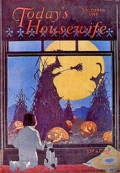 Today's Housewife--Vintage Halloween Magazine Cover