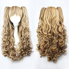 Lolita Curly Wig Inspired by Brown Gradient Cute Double Ponytail 70cm Princess  – USD $ 39.99