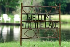 welcome to the lake twig yard sign | lake décor | yard décor