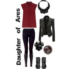 """""""Daughter of Ares: Cabin 5"""" by xylophobian on Polyvore"""