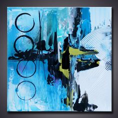 """Mix and Match 12""""x12""""  Modern Abstract Contemporary Small  Pallete Knife Art Painting Ready to Hang"""