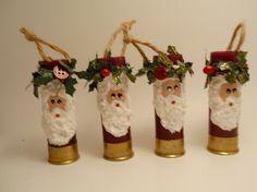 Shotgun Shell Santa Ornaments. ATOS!
