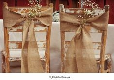 Vintage Natural Burlap Chair Sash