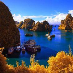 Halong Bay is één van de belangrijkste bezienswaardigheden van Vietnam