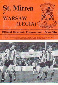 St Mirren 1 Legia Warsaw 0 in Feb 1976 at Love Street. Programme cover #Friendly