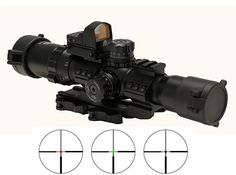 Trinity 1-4x28 Tactical Rifle Scope With Dual Color (Red , Green) illuminated Reticle And Micro Sized Red Dot Backup Aiming Sight And Quick Detach Scope Ring Mounts - This item fits Picatinny Weaver Rails , Kel-Tec SU16 SU22 , Umarex 416 , AR15, Beretta CX4 CX9 AXR100 AXR160 , Mossberg 715t FLEX-22 , FN SCAR , ACR , Hk416 , S&W M&P 15-22 , Hi-Point 4095 4595 Carbine , Remington Model 597 Rifles - http://www.airrifleforsale.com/air-rifle-sights/trinity-1-4x28-tactical-rifle-sc