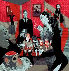 Tomer Hanuka (a darker view of the Addams Family)