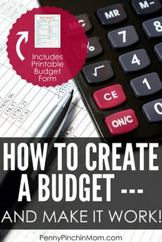 How to Create a Budget | Free Budget Printable Form | Budget Spreadsheet | Beginning Budget | Personal Finance