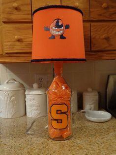 1.75 Lt Stolichnaya Ohranj Liquor Bottle Lamp (Syracuse Univ. Logo &  Shade) #Stolichnaya