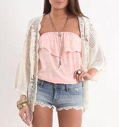 Summer Swoon Tube Top Kudos to style o. Teen Fashion, Fashion Outfits, Womens Fashion, Boho Fashion, Hipster Fashion, Fasion, Fashion Ideas, Summer Outfits, Cute Outfits