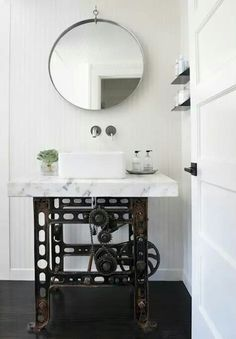 Steampunk base for the bathroom sink. | Steampunk Tendencies
