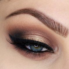 gold and brown smokey eye ~ we ❤ this! moncheribridals.com