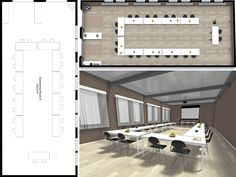 Plan and visualize your office design online and in Create layouts, floor plans, images, source furniture and more with RoomSketcher. Event Planning Template, Event Planning Checklist, Event Planning Business, Conference Planning, Floating House, Seating Charts, Commercial Design, Event Design, Floor Plans