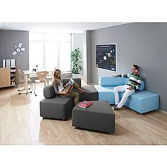 Flexible Seating Ideas Gallery: Versatile Classroom or Library Seating Floor Seating, Soft Seating, Lounge Seating, Library Furniture Design, Lounge Furniture, Library Design, Furniture Ideas, Classroom Furniture, School Furniture