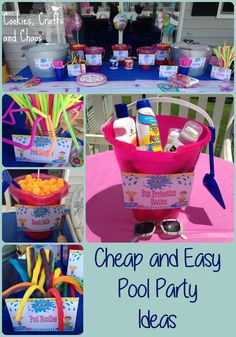 Pool party ideas. Cheap and Easy. #diy #summer #poolparty