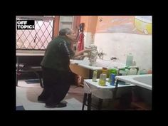 World's happiest dog groomer boogie with a canine client - Funny Video Luis Antonio Caballero, who runs PetShop Perrito Feliz in Buenos Aires, Argentina, gro. Happy Dogs, Pet Shop, Funny, Pet Store, Funny Parenting, Hilarious, Fun, Humor