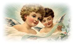 Free Vintage Christmas Angels Clip ArtFree Vintage Santa Claus Christmas Cards    vintageholidaycrafts.com