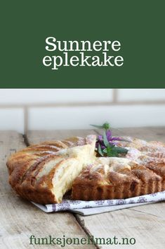 Sunnere eplekake - Funksjonell Mat | Eplekake oppskrift | Eplekake uten sukker | Sukkerfri kake | Kake oppskrift | Sugar free apple cake | Sunne oppskrifter | Sugar Free Apple Cake, Banana Bread, Chips, Desserts, Norway, Food, Tailgate Desserts, Deserts, Potato Chip