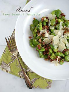 Authentic Suburban Gourmet: Sauteed Fava Beans & Pancetta