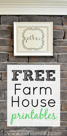 Free farm house printables to download for your gallery wall, kitchen or hallway. Three charming designs to add some farmhouse style to your home.