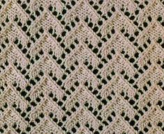 Lace Triangles Knit Stitch