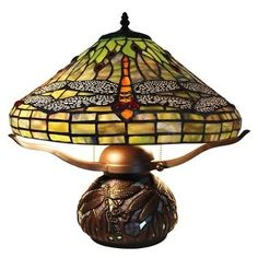 Shop for Jaffa 2-light Green Dragonfly 16-inch Mosaic Base Tiffany-style Table Lamp. Get free shipping at Overstock.com - Your Online Home Decor Outlet Store! Get 5% in rewards with Club O! - 19249921