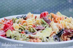 Creamy Bacon Avocado Pasta Salad Recipe - Beat the Heat!