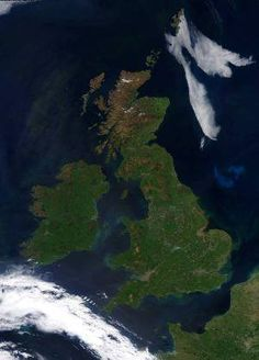 The UK from above, without a cloud