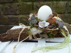 NATUR ♥Waldhäschen♥ Frühlings/Ostergesteck   von ♥♥ kranzkunst ♥♥ auf DaWanda.com