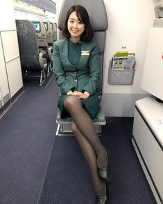 Image may contain: 1 person Cute Asian Girls, Beautiful Asian Girls, Pantyhose Legs, Nylons, Airline Uniforms, Military Women, Flight Attendant, Ballerinas, Sexy Legs