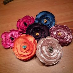 {A}Fresh Spin fabric flowers