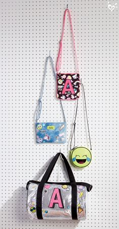 Purse-onalize your favorite carryall with Justice-exclusive emojis.