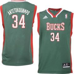Youth Boy's Milwaukee Bucks Giannis Antetokounmpo adidas Green Replica Jersey